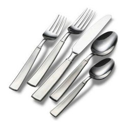 Lifetime Brands - Satin Balance 20 Pc. Flatware Set - Towle Living 20-Piece Everyday Satin Balance Flatware Set pattern has an attractive broad handle with banding detail and a brushed finish. crafted of superior quality 18/0 Stainless Steel, this set is ideal for everyday use. dishwasher safe. 20-piece set, service for four, includes (4) each: dinner fork, salad fork, dinner knife, dinner spoon and teaspoon