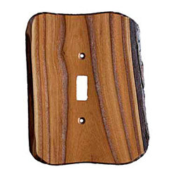 Sierra Lifestyles - Rustic - 1 Toggle Finished - Russian Olive Switchplate (BSH-682765) - Rustic - 1 Toggle Finished - Russian Olive Switchplate