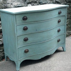Custom Painted Dressers - French Blue with Dark Antique Wax