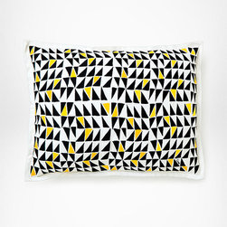 Diane von Furstenberg Grand Lobby Sham - This bold graphic pattern jazzes up the bedscape in the form of a sham. Available in standard, Euro and King sizes; price shown is for standart.