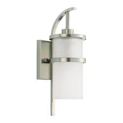 Sea Gull - Sea Gull One Light Outdoor Wall Lantern - Width: 6''