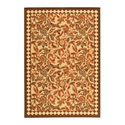"""Safavieh - Courtyard Brown/Red Area Rug CY4025C - 6'7"""" x 9'6"""" - Safavieh takes classic beauty outside of the home with the launch of their Courtyard Collection. Made in Belgium with enhanced polypropylene for extra durability, these rugs are suitable for anywhere inside or outside of the house. To achieve more intricate and elaborate details in the designs, Safavieh used a specially-developed sisal weave."""