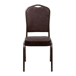 Flash Furniture - Flash Furniture Banquet Stack Chairs Banquet Stack Chairs - This is one tough chair that will withstand the rigors of time. With a frame that will hold in excess of 500 lbs., the HERCULES Series Banquet Chair is one of the strongest banquet chairs on the market. You can make use of banquet chairs for many kinds of occasions. This banquet chair can be used in Church, Banquet Halls, Wedding Ceremonies, Training Rooms, Conference Meetings, Hotels, Conventions, Schools and any other gathering for practical seating arrangements. The banquet chair is also great for home usage from small to large gatherings. For any environment that you use a banquet chair it will put your guests at a greater comfort level with the padded seat and back. Another advantage is the stacking capability that allows you to move the chairs out of the way when not in use. With offerings of comfort and durability, you can be assured that you can enjoy this elegant stacking banquet chair for years to come. [FD-C01-COPPER-BRN-VY-GG]