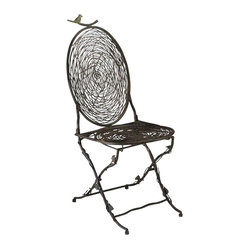 Cyan - Bird Chair - Weight: 23.4lbs.
