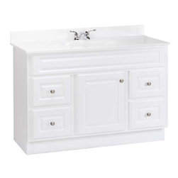 RSI HOME PRODUCTS - White Vanity 48 x 21 x 33 1/2 - Fully Assembled
