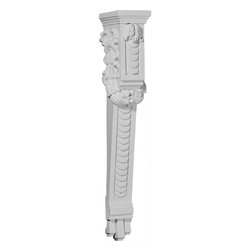 "Ekena Millwork - 3 7/8""W x 5 1/4""D x 27""H Odessa Extra Large Corbel - 3 7/8""W x 5 1/4""D x 27""H Odessa Extra Large Corbel. These corbels are truly unique in design and function. Primarily used in decorative applications urethane corbels can make a dramatic difference in kitchens, bathrooms, entryways, fireplace surrounds, and more. This material is also perfect for exterior applications. It will not rot or crack, and is impervious to insect manifestations. It comes to you factory primed and ready for your paint, faux finish, gel stain, marbleizing and more. With these corbels, you are only limited by your imagination."