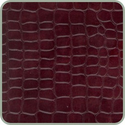 Cabernet Crocodile Leather Tile - Whether you cover your floors or your walls with recycled leather tiles, you will surely add a sense of drama to your kitchen!