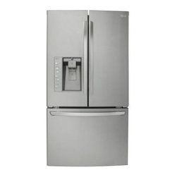 LG Electronics - LG Electronics Refrigerator. 30.7 cu. ft. French Door Refrigerator in Stainless - Shop for Appliances at The Home Depot. With a generous 30.7 cu. ft. capacity, this LG 3-door refrigerator not only has the features to keep your food fresh, it's got the room to store it all. LG food preservation technology keeps temperature and humidity right where it's best for your food, and a Fresh Air Filter keeps the air around your food from getting stale. And with its Smart Pull Handle and 3-Tier Organization using the freezer and keeping it organized are a breeze.