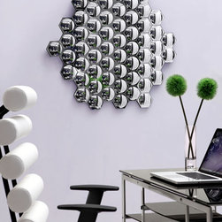 Honeycomb Mirror Clear - With its many facets and angles, these chic mirrors are handcrafted with a solid back and dual wires for multiple hanging positions