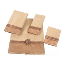 Avanti Linens - Braided Cuff 4 Piece Cotton Towel Set by Avanti Linens - Elegant with opulent detailing, the  Braided Cuff towels' style and texture are a welcome addition to any bathroom. Available in a variety of hues, these towels feature an ornate braided cuff.