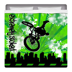 Extremely Stoked BMX King Size Sheet Set - Get Extremely Stoked and Dream In Extreme! Our King Size BMX Sheet Set is made of a lightweight microfiber for the ultimate experience in softness~ extremely breathable!