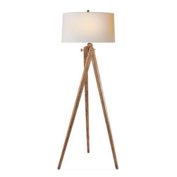 Tripod Floor Lamp by Sandy Chapman - I have noticed some of my favorite designers using this tripod floor lamp around Houzz and it makes me happy because I talked my parents into buying one for their house in Maine before I ever saw so many great designers using it. Total vindication. It has a bit of subtle nautical style to it and it's just a darn handsome lamp.