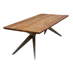 Sierra Living Concepts - Sierra Spyder Rustic Wood Iron Rectangular Dining Table - This Sierra Unique Industrial Spyder Loft Solid Wood Rectangular Dining Table is casual, rustic, durable, natural and everything you've come to expect from Sierra Living Concepts.
