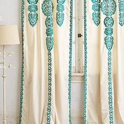 """Anthropologie - Marrakech Curtain - Tunnel loop constructionCotton; cotton liningDry clean42""""WImported"""