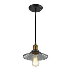 "Ohr Lighting® - Ohr Lighting® Edison Factory Pendant Light With Edison Bulb 8.5"", Matte Black/An - Features"