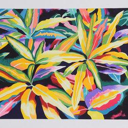 Linda Bastian, Tropical Leaves, Lithograph - Artist:  Linda Bastian, American