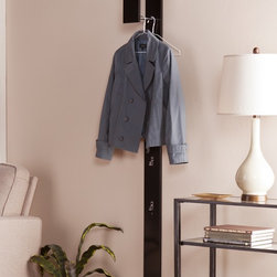 Upton Home - Upton Home Holmes Anywhere Black Wall Mount Coat Tree - Add practical storage to your home with this Upton Home contemporary,black wall mount coat tree. The tall,slender design adds much needed function to small spaces and gives purpose to idle walls.