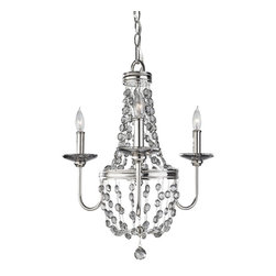 Murray Feiss - Polished Nickel Malia 18.5 Diameter 3 Light Mini Chandelier - Lamping Technologies:
