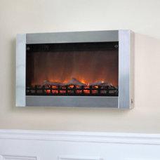 Modern Indoor Fireplaces by Wayfair
