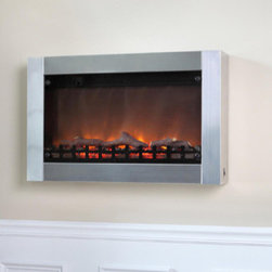 "Fire Sense - Wall Mounted Electric Fireplace - Add sophisticated ambience to any room with our Black Wall Mounted Electric Fireplace. This sleek unit extends a mere six inches from any wall. The modern black frame surrounds a wide realistic flame. The tempered front glass provides an astonishing reflective surface from which the fire comes alive. Adding even more romance to this perfect setting is the glowing ember bed. Included in this unit is a fully functional 1400W multiple setting electric heater. Comes with full function remote control. Features: -Wall Mounted Fireplace.-Soft touch control panel.-On / off switch for heat and flame.-3D patented flame.-Sleek original design.-Plugs in to any household outlet with 6 foot cord.-Includes remote control.-Full metal construction with glass front.-Built in 1400W heater with internal safety shutoff sensor.-Collection: Electric Wall Mounted Fireplace.-Distressed: No.-Powder Coated Finish: No.-Gloss Finish: Yes.-Hardware Material: Steel.-Fireplace Insert Only: No.-Freestanding Fireplace: No.-Tabletop Fireplace: No.-TV Stand Fireplace: No.-BTU Output: 4503 BTU.-Wattage Output: 1400 Watt.-Power Requirement: 110V.-Ampere Requirement: 15 Amps.-Space Heating Capacity: 120 sq. ft..-Adjustable Temperature: No.-Adjustable Flame: Yes.-Thermal Overload Protection: Yes.-Air Filter: No.-Built In Fan: Yes.-Mantel: No.-Battery Type: 2 AAA.-Batteries Included: No.-Timer Function: Yes.-Snuffer Included: No.-Indoor or Outdoor Use: Indoor Only.-Commercial Use: No.-Recycled Content: 0%.-Eco-Friendly: No.-Product Care: Clean with soft cloth once cooled.Specifications: -CSA approved.-ISTA 3A Certified: Yes.-ETL Certified: No.-CETL Certified: Yes.-UL Certified: No.-CUS Certified: No.Dimensions: -Overall Height - Top to Bottom (Finish: Stainless Steel): 19.7"".-Overall Height - Top to Bottom (Finish: Black): 19.13"".-Overall Width - Side to Side (Finish: Stainless Steel): 31"".-Overall Width - Side to Side (Finish: Black): 30.55"".-Overall Depth - Front to Back (Finish: Stainless Steel): 5.75"".-Overall Depth - Front to Back (Finish: Black): 5.67"".-Firebox Height - Top to Bottom (Finish: Stainless Steel): 19.7"".-Firebox Height - Top to Bottom (Finish: Black): 19.13"".-Firebox Width - Side to Side (Finish: Stainless Steel): 31"".-Firebox Width - Side to Side (Finish: Black): 30.55"".-Firebox Depth - Front to Back (Finish: Stainless Steel): 5.75"".-Firebox Depth - Front to Back (Finish: Black): 5.67"".-Power Cord Length: 72"".-Overall Product Weight: 34 lbs.Assembly: -Assembly Required: Yes.-Tools Needed: Screw Driver.-Additional Parts Required: No.Warranty: -Product Warranty: 1 year."