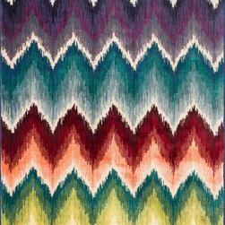 "Loloi Rugs - Loloi Rugs Madeline Collection - Multi, 3'-9"" x 5'-2"" - Distinguished by its unprecedented watercolor design, the Madeline Collection features a series of gorgeous, show-stopping rugs at an unbeatable price. Power-loomed of 100% polypropylene in Egypt, Madeline's color space-dyeing technique gradates the bold and vibrant colors throughout the rug to create a stunning rendition of popular watercolor paintings."