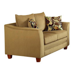 Chelsea Home Furniture - Chelsea Home McKenzie Loveseat in Viva Chestnut - McKenzie loveseat in Viva Chestnut belongs to the Chelsea Home Furniture collection