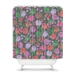 DENY Designs Bianca Green Roses Shower Curtain - A sense of modern femininity comes included with the ultra stylish DENY Designs Bianca Green Roses Shower Curtain. Amazing colors and bold graphics make the classic floral theme something distinctively contemporary. These are certainly not your Grandma's floral patterns.About DENY DesignsDenver, Colorado based DENY Designs is a modern home furnishings company that believes in doing things differently. DENY encourages customers to make a personal statement with personal images or by selecting from the extensive gallery. The coolest part is that each purchase gives the super talented artists part of the proceeds. That allows DENY to support art communities all over the world while also spreading the creative love! Each DENY piece is custom created as it's ordered, instead of being held in a warehouse. A dye printing process is used to ensure colorfastness and durability that make these true heirloom pieces. From custom furniture pieces to textiles, everything made is unique and distinctively DENY.