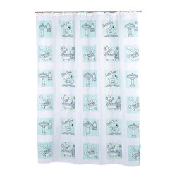 """""""Bath Time"""" Fabric Shower Curtain - """"Bath Time"""" Fabric shower curtain, 100% polyester, size 70""""x72"""". Give your bathroom a bath theme with our multi print """"Bath Time"""" Shower Curtain. Made to fit standard-sized bathtubs or showers (curtain measuring 70'' w x 70'' l), """"Bath Time"""" is made with a 100% polyester, machine-washable fabric that is both durable and water resistant. In addition, an accompanying """"Bath Time"""" window curtain is available separately, allowing you to coordinate your bathroom with ease. Machine wash in warm water, tumble dry, low, light iron as needed"""
