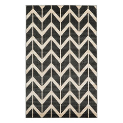 eSaleRugs - 5' 1 x 8' Chevron Rug  - SKU #33115974 - Machine Made Chevron rug. Made of Polypropylene. Brand New.