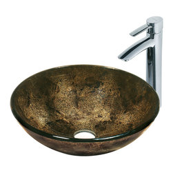 Vigo - Vigo Sintra Glass Vessel Sink and Faucet Set - Take any bathroom to the next level with this in. Sintrain.  Vigo glass vessel sink and faucet set. Durability, design and style put this set on another level.