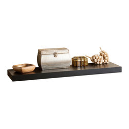 Southern Enterprises - Southern Enterprises Chicago Floating Shelf in Black - Southern Enterprises - Wall Display Shelves - EN7362. This floating wall shelf is perfect for any room of your home. Easy as hanging a picture this shelf shows no visible supports and actually appears to be floating. Just perfect for displaying pictures and family artifacts, this piece is sure to make a splash in your home.