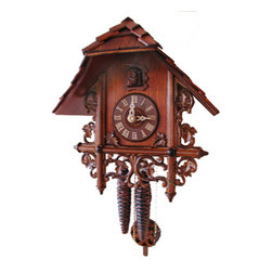 ROMBACH UND HASS - Rombach und Haas - Mini-Bahnhausle - One-day Movement 1223 - This cuckoo clock features: