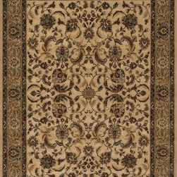 """Loloi Rugs - Loloi Rugs Stanley Collection - Beige / Green, 2'-6"""" x 7'-9"""" - The magnificent Stanley Collection features modern interpretations of the most sophisticated hand knotted designs. Recreated in Egypt with power loomed technology these gorgeous polypropylene area rugs offer an affordable alternative."""