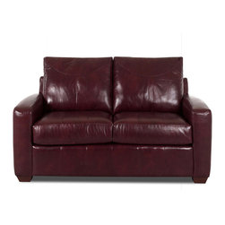 Savvy - Boulder Leather Loveseat in Durango Burgundy - Boulder Leather Loveseat in Durango Burgundy