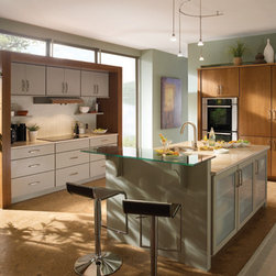 Modern Clean Line Kitchen - Maximum use of a small kitchen area in an open, modern design. Clean lines, great use of space.