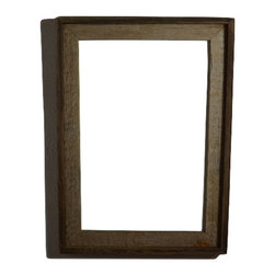 "Rustic poster Frame 12""x18"" - Reclaimed Barnwood - Nice natural light patina accented with a dark trim makes an a eye catching wall frame."
