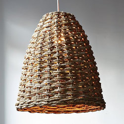 Woven Beehive Pendant - The seagrass material and beehive shape of this pendant are both cute nods to the outdoors.