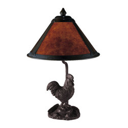 "Dale Tiffany - Dale Tiffany 2307 16"" Rooster Mica Table Lamp with Candelabra Base and 1 Light - Dale Tiffany 2307 16"" Rooster Mica Table Lamp with Candelabra Base and 1 LightAdd a fresh sense of style to your home with this attractive 16"" Rooster Mica Table Lamp with Candelabra Base and 1 Light. This Table Lamp is a perfect way to augment the lighting in your room with style.Dale Tiffany 2307 Features:"