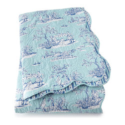 """Horchow - King Toile Quilt 108"""" x 92"""" - King Toile Quilt 108"""" x 92"""""""
