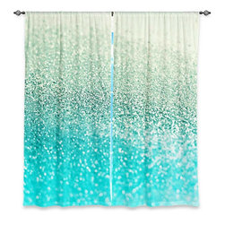 "DiaNoche Designs - Window Curtains Lined by Monika Strigel Gatsby Mint - Purchasing window curtains just got easier and better! Create a designer look to any of your living spaces with our decorative and unique ""Lined Window Curtains."" Perfect for the living room, dining room or bedroom, these artistic curtains are an easy and inexpensive way to add color and style when decorating your home.  This is a woven poly material that filters outside light and creates a privacy barrier.  Each package includes two easy-to-hang, 3 inch diameter pole-pocket curtain panels.  The width listed is the total measurement of the two panels.  Curtain rod sold separately. Easy care, machine wash cold, tumble dry low, iron low if needed.  Printed in the USA."