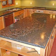 Modern Kitchen Countertops by Concrete Arts