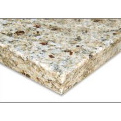 "Granite Countertops Venetian Gold Counter Top Blank with Eased Edge 78""x26"" 1 1/"