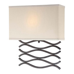 Lite Source - Lite Source, Inc. Jaylee Wall Lamp, Translucent - Lite Source, Inc. LS-16917 Jaylee Wall Lamp, TranslucentLite Source Wall Lamp with Dark Bronze body, from the Jaylee CollectionBeige Fabric ShadeShade Dimensions: 8-Inch heightLamp dimensions: 15-Inch x 13-Inch x 4-InchRequires 1 x 13 Watt GU24-socket CFL-type bulb (not included)Need more information on this product? Click here to ask.