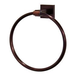 VIGO Industries - VIGO Allure Square Design Hand Towel Ring, Oil Rubbed Bronze - The VIGO Allure Square Design Hand Towel Ring in Oil Rubbed Bronze will allow you to easily keep a towel within reach.