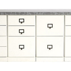 Ballard Designs - Original Home Office 4-Cabinet Credenzas with Zinc Top - Around here, we call ...