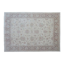 1800-Get-A-Rug - Peshawar Oriental Rug Hand Knotted Rug Stone Wash Sh9271 - About Oushak and Ziegler Mahal