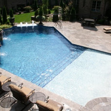 Traditional Pool by Fishel Pools