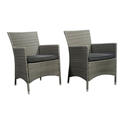 International Home Miami - Atlantic Liberty Deluxe Grey Wicker Armchair - Set of 2 - Liberty Deluxe Grey Wicker Armchair (Set of 2) belongs to Atlantic Collection by International Home Miami Great quality, stylish design patio sets, made of aluminum and synthetic wicker. Polyester cushion with water repellant treatment. Enjoy your patio with elegance all year round with the wonderful Atlantic outdoor collection.  Armchair (2)