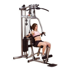 Powerline P1X Home Gym - Cost-conscious gym performs a variety of different exercises for an effective total body workoutChoose the optional leg press attachment for an even greater variety of workout optionsPre-welded frame consists of 2 major sub-assemblies that increase stability and reduce assembly timeDesigned with versatility durability dependability and affordability in mindStrong 1.5- x 3.25-inch oval tubing 7-gauge steel connecting plates and sealed bearings at all pivot pointsDurable steel construction with a long-lasting electrostatically applied powder-coated silver finish and a graceful modern designIncludes a 160-pound weight stack for effective resistanceNylon-coated steel 2 200-pound rated aircraft cable and fiberglass-reinforced nylon pulleysOffers exceptional range of motion and full adjustability to accommodate any size userThe ergonomically correct multi-grip press arm system delivers deep effective muscle interactionEasy switching between high mid and low pulley exercises with convenient no cable-change designAllows you to perform lat pulldowns triceps pressdowns biceps curls abdominal crunches and dozens of other exercisesMid row handles enable an effective mid and lower back workout to increase flexibility and strength while relieving lower back tensionHigh-density foam cushions and rubber hand grips and handlesTotal machine weight: 360 poundsPlease note that some assembly is requiredManufacturer's warranty included - see Product Guarantee area for complete detailsAbout Body SolidBody Solid has been making high-quality strength training and exercise equipment for over 20 years. Designed for today's workouts Body Solid machines feature innovative technology and distinctive styling that suits your home. Body Solid equipment meets the challenges of today's busy lifestyle while providing you with the utmost in advanced home exercise. From space-saving designs that suit any room to full-sized gym systems with every available station Body Solid gives you the features you want at a price you can afford. All components of all machines are covered by a lifetime manufacturer's warranty; something you won't find from any other manufacturer in the industry.