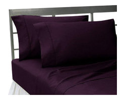 SCALA - 1000Tc Solid King Size Purple Color Sheet Set - We offer supreme quality Egyptian Cotton bed linens with exclusive Italian Finishing. These soft, smooth and silky high quality and durable bed linens come to you at a very low price as these come directly from the manufacturer. We offer Italian finish on Egyptian cotton, which makes this product truly exclusive, and owner's pride. It's an experience and without it you are truly missing the luxury and comfort!!